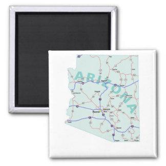 Arizona Interstate Map Magnet