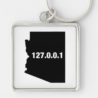Arizona Is Home Programmer Silver-Colored Square Keychain