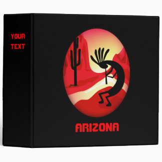 "Arizona Kokopelli Sunset 2"" Black Binder"