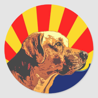 Arizona Labrador Round Sticker