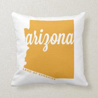 arizona | land of sunshine | gold throw pillow