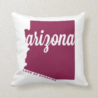arizona | land of sunshine | maroon throw pillow