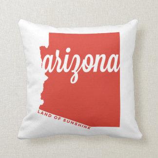 arizona | land of sunshine | red orange throw pillow