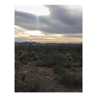 Arizona Landscape Letterhead Template
