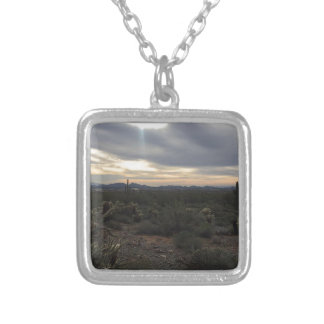 Arizona Landscape Silver Plated Necklace