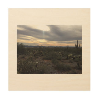 Arizona landscape wood wall art wood print