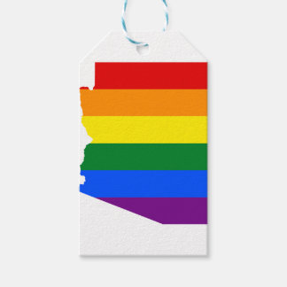 Arizona LGBT Flag Map Gift Tags