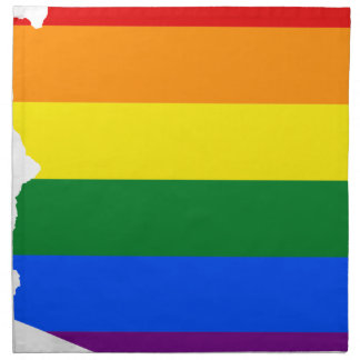 Arizona LGBT Flag Map Napkin