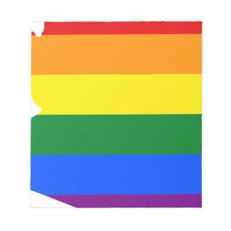 Arizona LGBT Flag Map Notepad