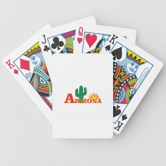 Arizona logo simple bicycle playing cards