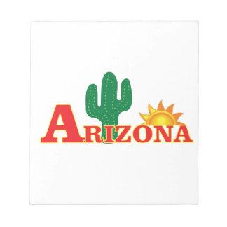 Arizona logo simple notepad