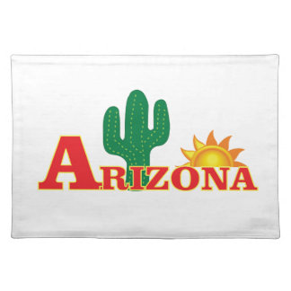 Arizona logo simple placemat