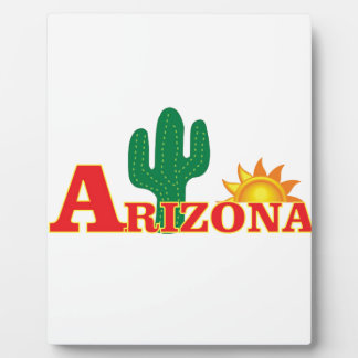 Arizona logo simple plaque