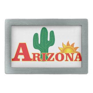 Arizona logo simple rectangular belt buckle