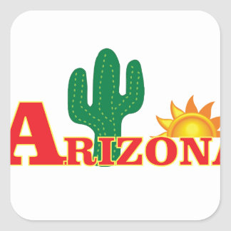 Arizona logo simple square sticker