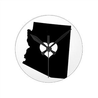 Arizona Love Round Clock