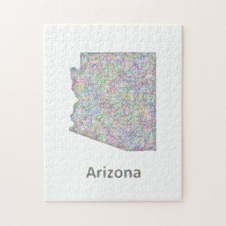 Arizona map jigsaw puzzle