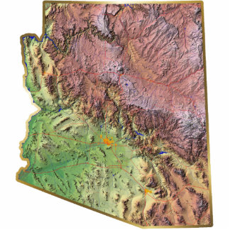 Arizona Map Magnet Cut Out
