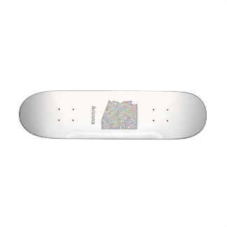 Arizona map skateboard deck