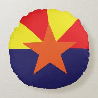 Arizona minimalist flag round pillow