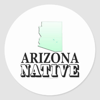Arizona Native Round Sticker
