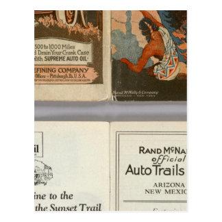 Arizona, New Mexico auto trails Postcard