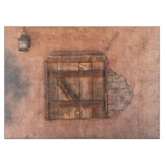 Arizona Old West Building Wall Cutting Board