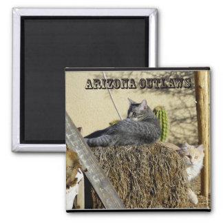 Arizona Outlaws Square Magnet