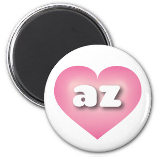 Arizona pink fade heart - mini love 2 inch round magnet