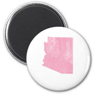 Arizona Pink Vintage Grunge 2 Inch Round Magnet