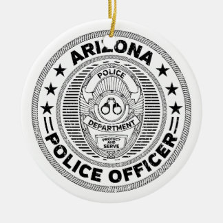 Arizona Police Officer Ceramic Ornament
