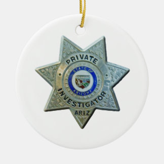 Arizona Private Investigator Ceramic Ornament