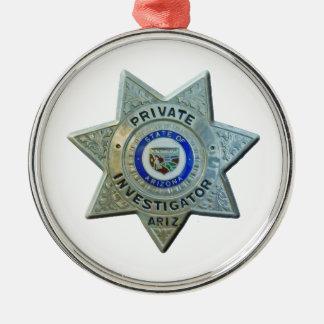 Arizona Private Investigator Metal Ornament