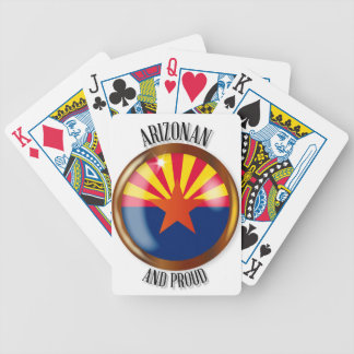 Arizona Proud Flag Button Bicycle Playing Cards