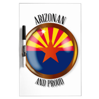 Arizona Proud Flag Button Dry Erase Board