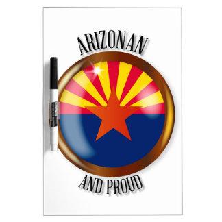 Arizona Proud Flag Button Dry Erase Whiteboard