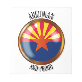 Arizona Proud Flag Button Notepad