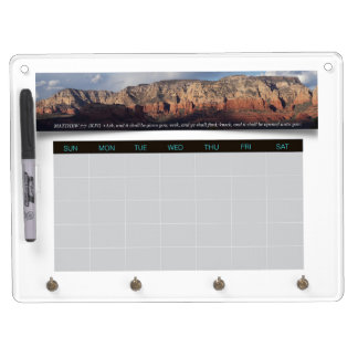 Arizona Red Rocks Weekly Planner Calendar Proverbs Dry Erase Board With Keychain Holder