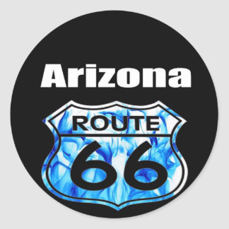 Arizona Route 66 Classic Round Sticker