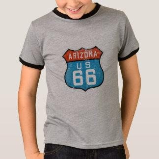 Arizona Route 66 Vintage Retro Distressed Logo T-Shirt