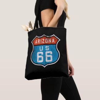 Arizona Route 66 Vintage Retro Distressed Logo Tote Bag