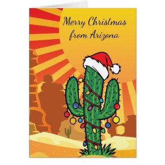 Arizona Saguaro Cactus  Christmas Card