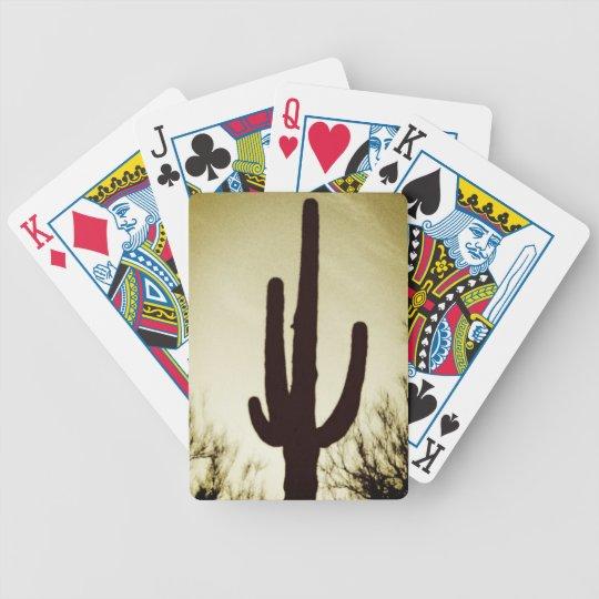 Arizona Saguaro Cactus Silhouette Bicycle Playing  Poker Deck