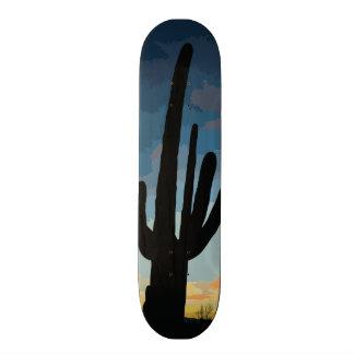 Arizona Saguaro Cactus Southwestern Sunset Custom Skate Board