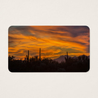 Arizona Saguaro Cactus Sunset Business Card