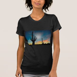 Arizona Saguaro Cactus  Sunset Plastic 3d Art T-Shirt