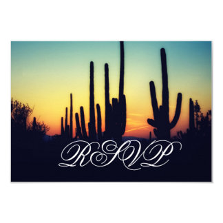 Arizona Saguaro Cactus Sunset Wedding RSVP Cards