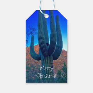 Arizona Saguaro Christmas Personalized Gift Tag