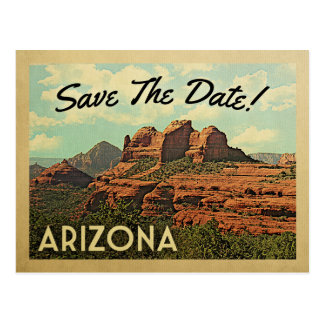 Arizona Save The Date Vintage Postcards