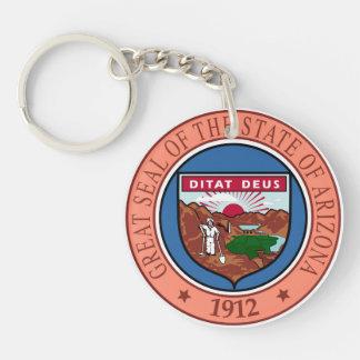 Arizona seal united states america flag symbol rep keychain